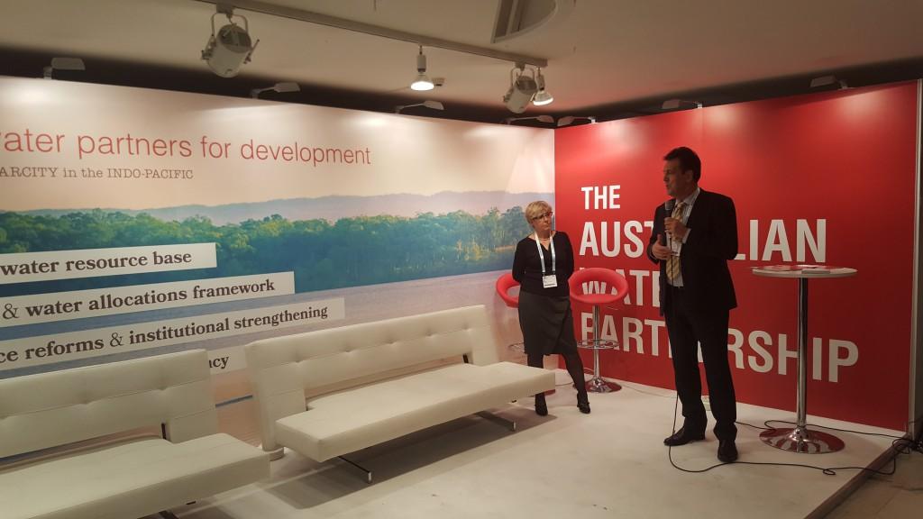 Dr Jane Doolan and Prof Gary Jones launching the AWP Narrative