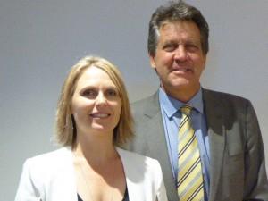 Water Industry Alliance CEO, Rachel Barratt, and AWP CEO, Dr Gary Jones.
