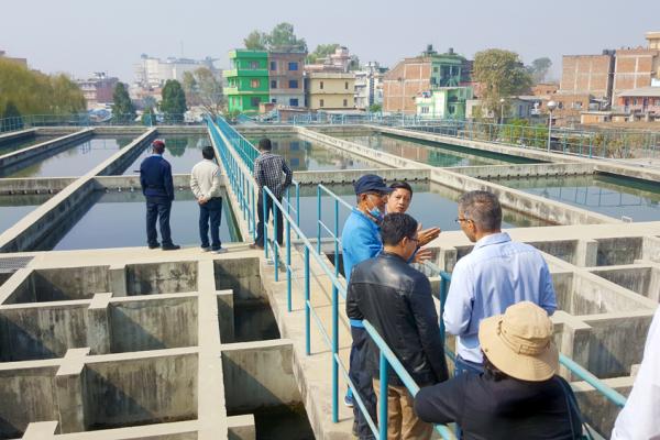 Mahankal Chaur Water Treatment Plant, Kathmandu, Nepal.