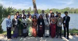 Myanmar Young Water Professionals Batch 3 with Prof Dr Khin Ni Ni Thein (Secretary Advisory Group, National Water Resources Centre) and AWP Myanmar Coordinator Rory Hunter.