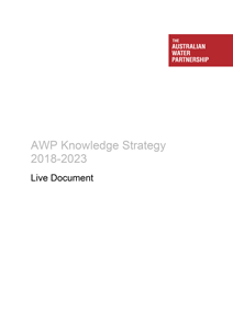 AWP Knowledge Strategy 2018-2023 Cover