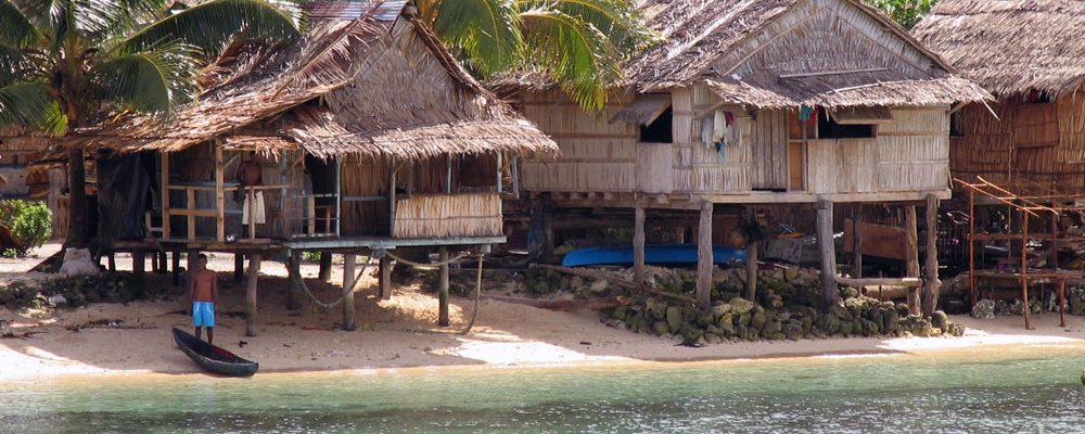 A village near Auki, Malaita, Solomon Islands. Credit: DFAT