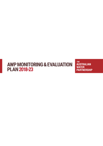 AWP Monitoring and Evaluation Plan cover
