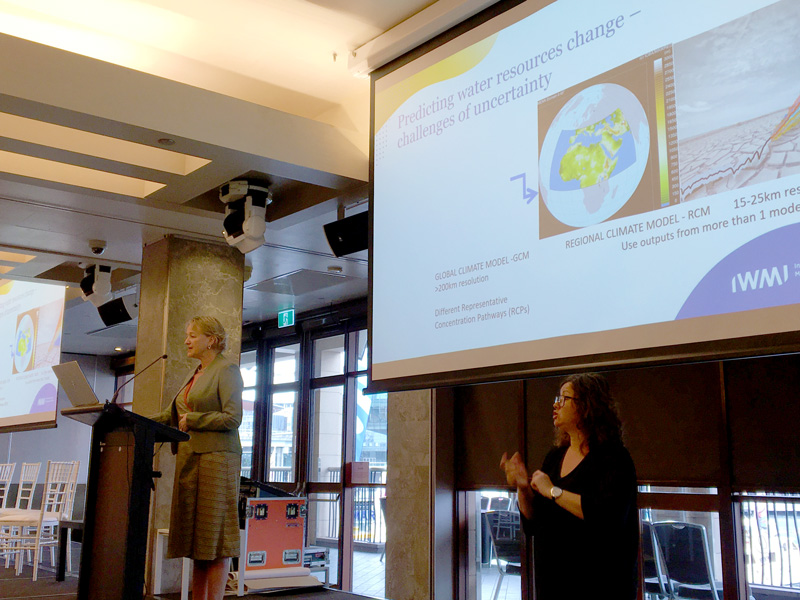 Rachael McDonnell (IWMI) on possibilities, challenges and partnerships for water security