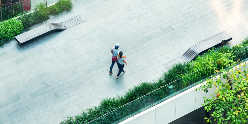 Green city pedestrian bridge (credit: ultramansk/Adobe Stock)