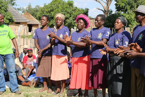 A Sanitation Action Group on a project with Welthungerhilfe, Zimbabwe, as part of the Civil Society WASH Fund (credit: David Brazier, Civil Society WASH FMF/Palladium International)